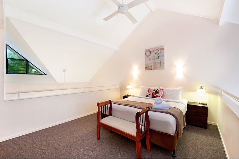 Loft Master bedroom with en-suite.  Photo Courtesy of Prime Property GC.