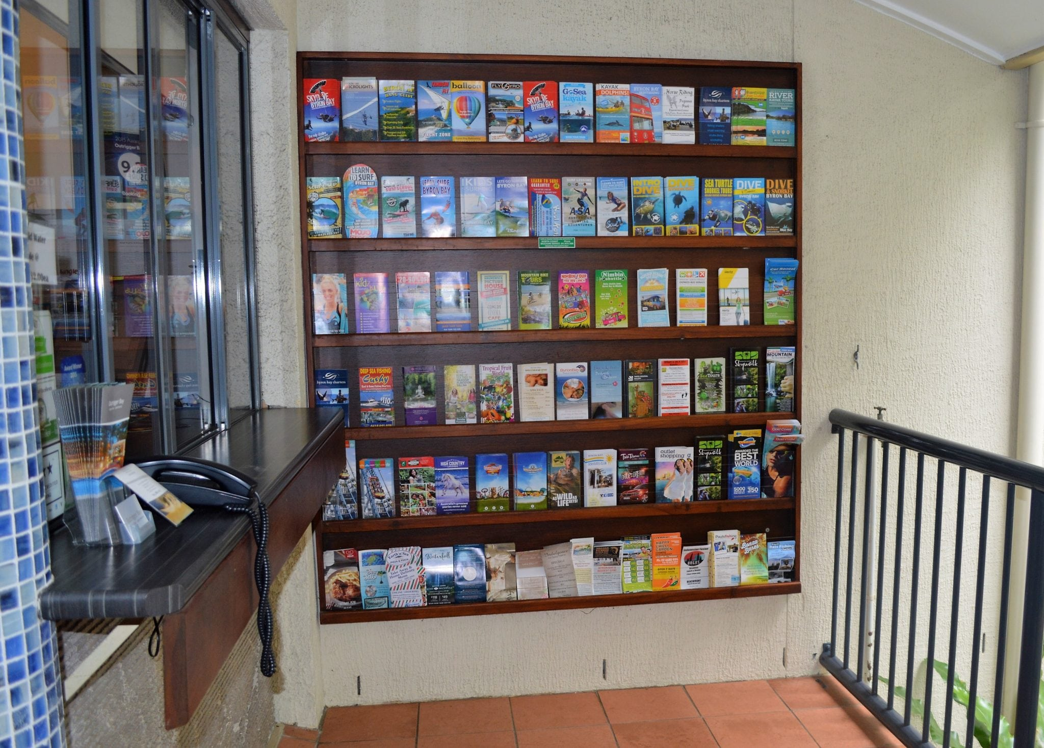 On-site managers, reception desk and tour information