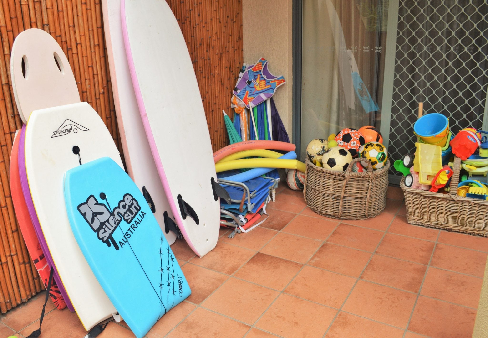 Complimentary Pool/Beach toys & boogie boards